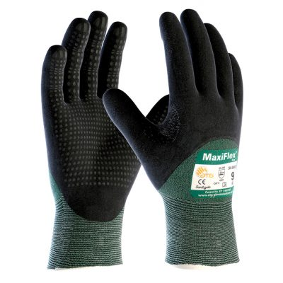 Atg MaxiFlex® Cut™ 34-8453 Dotlu ¾ Dipped Kesilmeye Dayanıklı İş Eldiveni