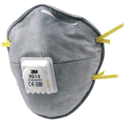 3M 9914 Aktif Karbonlu Ventilli FFP1 Toz Maskesi