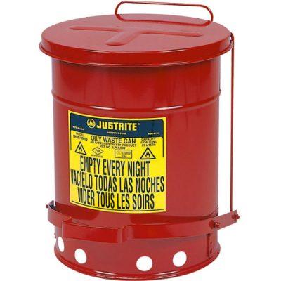 Justrite 09500 52 Litre Pedallı Atık Çöp Kovası