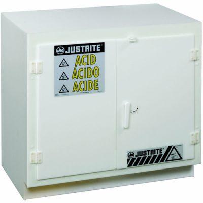 Justrite 24010 Asit ve Aşındırıcılar İçin Solid Polietilen Emniyetli Dolap