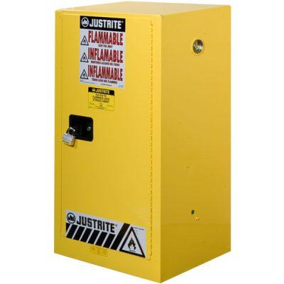 Justrite 891500 57 Litre Yanıcılar İçin Kompakt Emniyetli Dolap