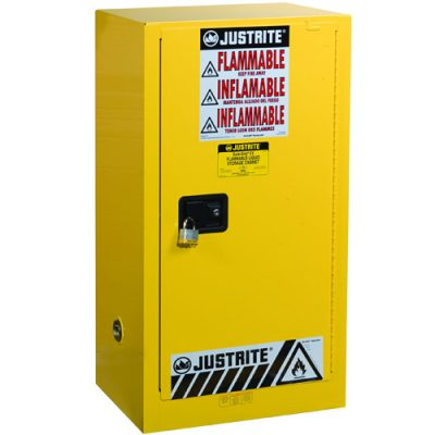 Justrite 891520 57 Litre Yanıcılar İçin Kompakt Emniyetli Dolap