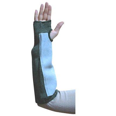 Elpic® Kevlar Yeşil Kolluk 35cm Deri Takviyeli