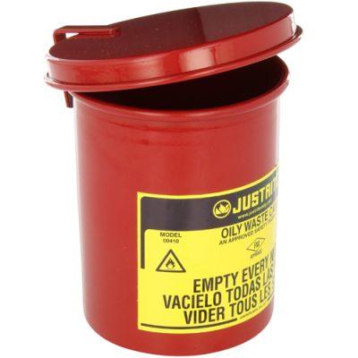 Justrite 09410 Sessiz Kapanan 1,7 Litre Atık Çöp Kovası