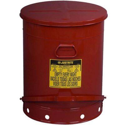 Justrite 09700 80 Litre Pedallı Atık Çöp Kovası