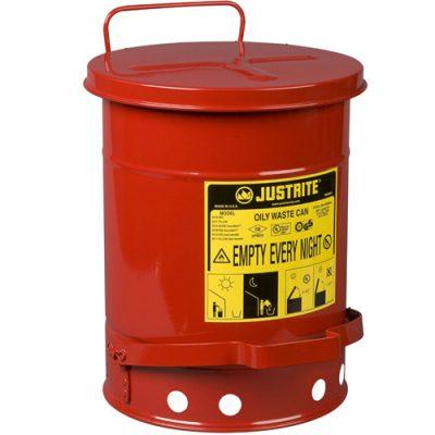 Justrite 09100 20 Litre Pedallı Atık Çöp Kovası