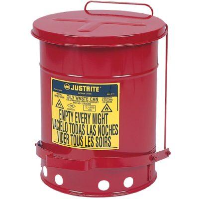 Justrite 09308 Sessiz Kapanan 34 Litre Atık Çöp Kovası