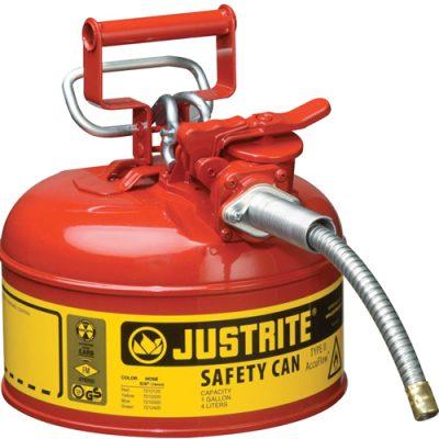 Justrite 7210120 4 Litre Çelik Emniyetli Kap